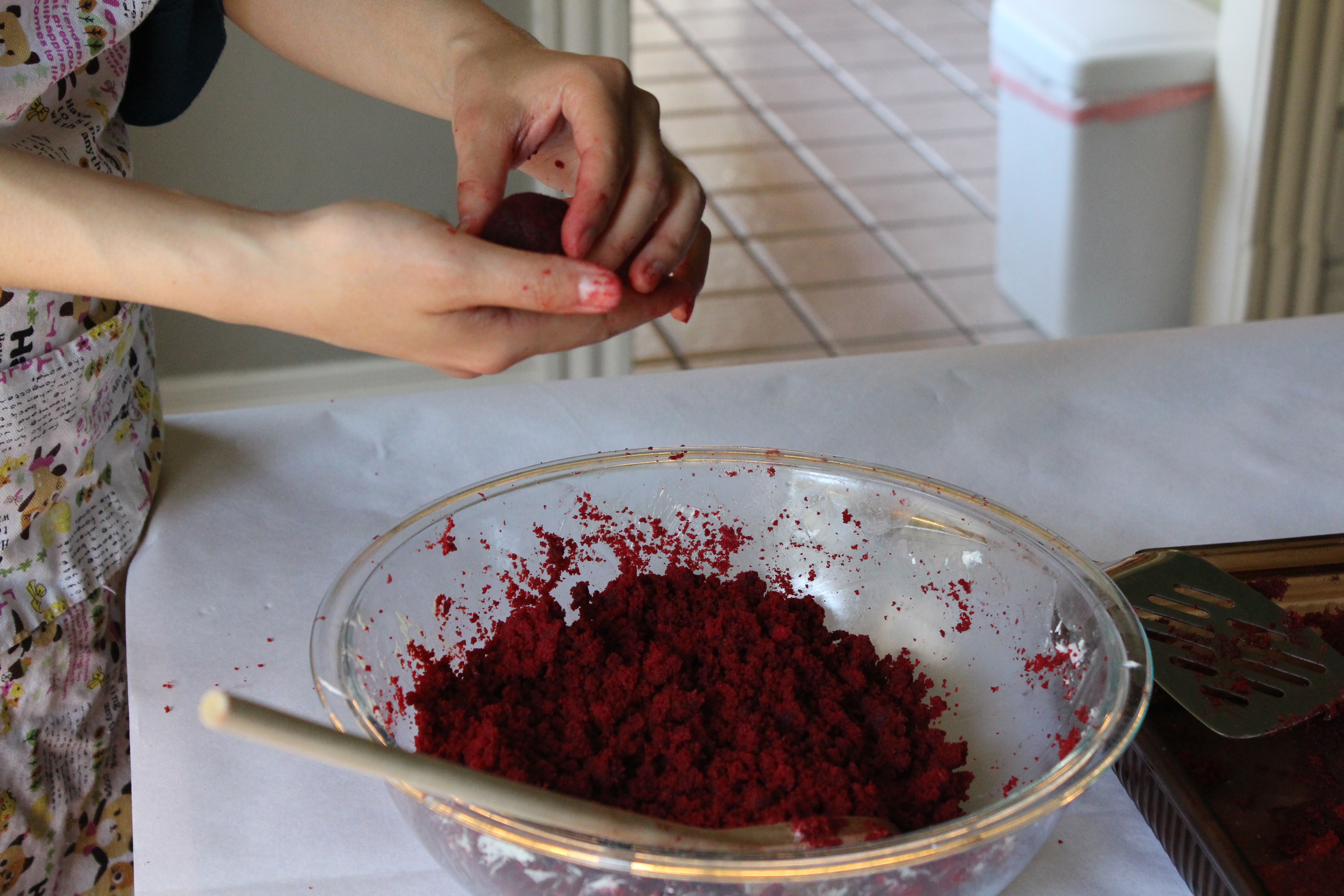 Red Velvet Cake Pops and Cake Pop Process | One Domestic ...